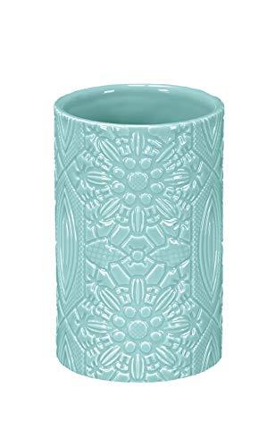 Kleine Wolke Mandalay - Vaso para cepillos de Dientes, diseño de Piedra, Color Verde