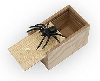 玩具 クモ びっくり箱 飛び出す 蜘蛛 おもしろ パーティーグッズ どっきり スパイダーボックス ミニ木箱 蜘蛛 恐怖ボックス 悪ふざけ ジョーク おもちゃ 誕生日 クリスマス ギフト サプライズ 手品 木製 友人 家族 パーティー
