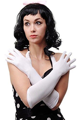 guanti lunghi bianchi DRESS ME UP - Carnevale Guanti Donna Lunghi Bianco Opera Ballo DWS-019-WHITE