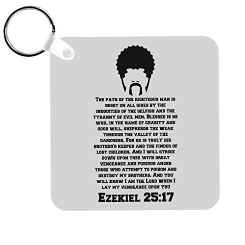 Cloud City 7 Ezekiel Rules Pulp Fiction Keyring