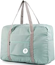 For Spirit Airlines Foldable Travel Duffel Bag Tote Carry on Luggage Sport Duffle Weekender Overnight for Women and Girls (1112 Mint Green)