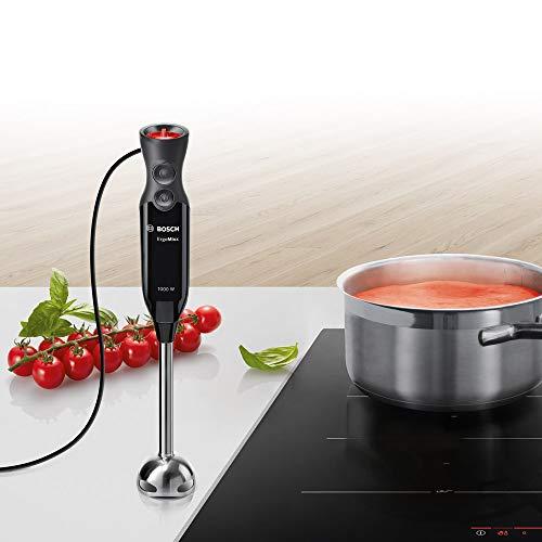Bosch MS6CB6110 ErgoMixx Frullatore a Immersione, in Acciaio Inox, 1000 W, Nero