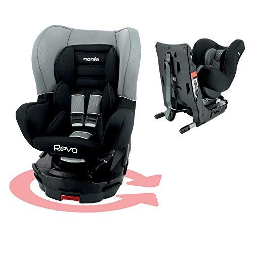 Nania - REVO Isofix Autositz mit 360° Drehung - Gruppe 0/1 (0-18Kg) - Luxus (gris)