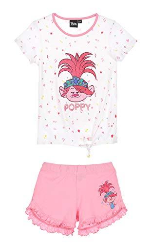Samoja Kids Trolls - Pijama corto para niña, 4/5/6/8 años rosa 4 años