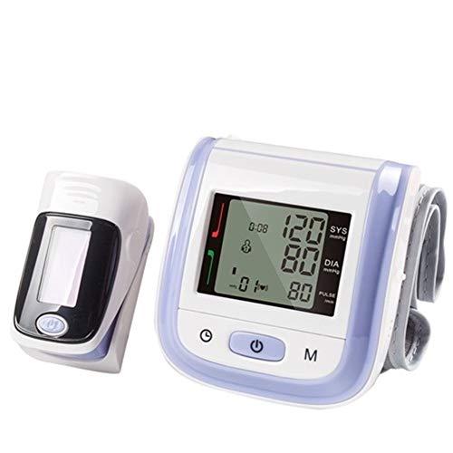 Digital-Handgelenk-Blutdruckmessgerät und Fingertip Pulsoximeter SpO2 Familie Health Care Sphygmomanometer Oximeter (Color : Purple)