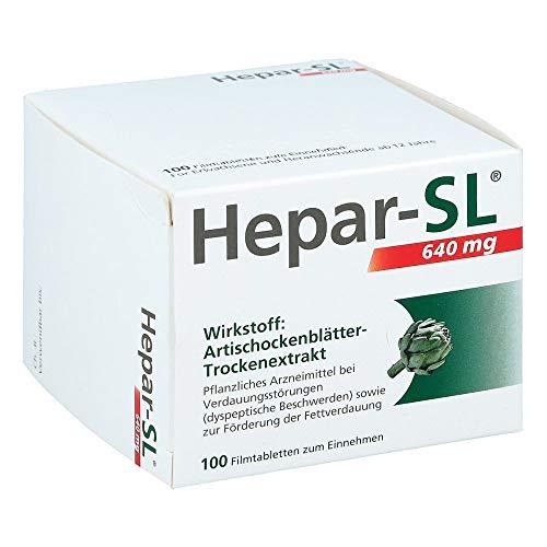Hepar-SL 640 mg Artischockenblätter-Trockenextrakt Filmtabletten, 100 St. Tabletten