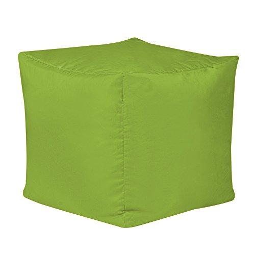 Bean Bag Bazaar Bar B Cube Tabouret en Pouf Poire Vert- pour l'extérieur et l'intérieur (résistant à l'Eau)