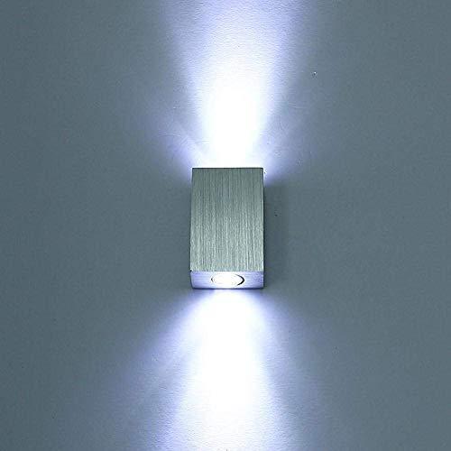 SISVIV Applique da Parete Interni Lampada da Parete a LED Stile Moderno Illuminazione Interna da Muro in Alluminio per Soggiorno Camera da Letto Corridoio Scale