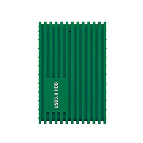 Uonlytech Disco Duro de Alta Velocidad Usb3. 0 Disco Duro Disco Duro de 1 Tb Portátil a Prueba de Golpes para PC de Escritorio Portátil Y Más Verde