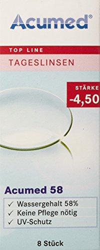 Acumed 58 Tageskontaktlinsen, -2.00 Dioptrien, 8 Stück