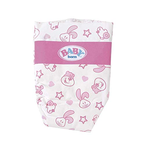 Zapf Creation 815816 BABY born Windeln Set Puppenzubehör 5 Stück, pink