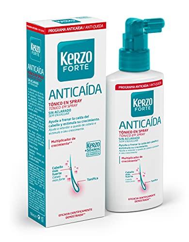 Kerzo Forte - Tónico en Spray Anticída - Sin Aclarado, Multiplicador de Crecimento Cientificamente Demostrado, para Todo Tipo de Cabello, Blanco