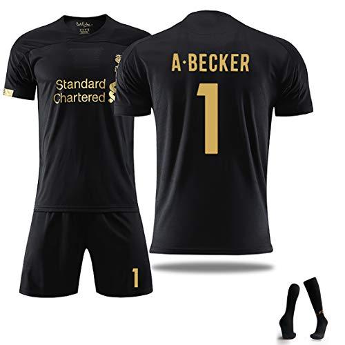zomer zomer uniform voor volwassenen, voetbaluniform voor kinderen voor het seizoen A.Becker 13# en 1# 19-20 met aangepast sokkennummer