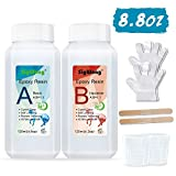 Epoxy Resin Clear Crystal Coating Kit 240ml/8.8oz - 2 Part Casting Resin for Art, Craft, Jewelry Making, River...