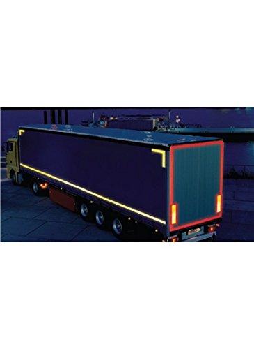 Caledonia Tekens 56353 Vrachtwagen Markering Contour Tape, Gordijn Voertuig, 51 mm x 50 m, Geel