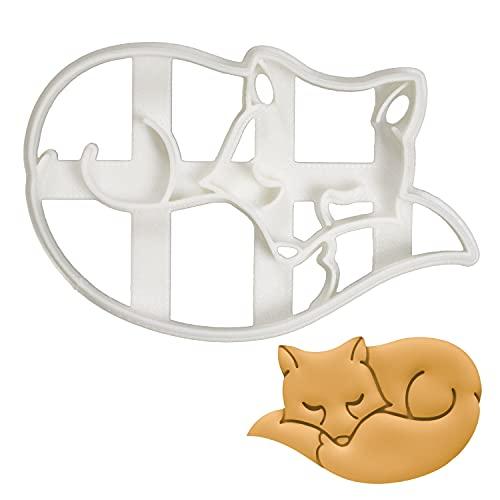 Fox Sleeping - Molde para galletas (1 pieza), diseño de panadería