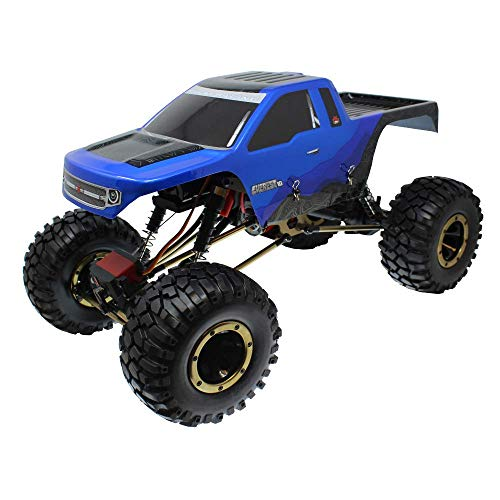 Redcat Racing Everest-10 Electric Rock Crawler with Waterproof Electronics, 2.4Ghz Radio Control (1/10 Scale), Blue/Black