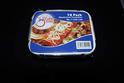 50 ALUMINIUM FOIL TAKEAWAY FOOD CONTAINERS SMALL + 50 Lids - No1 Order before 12 noon for same day dispatch weekdays only
