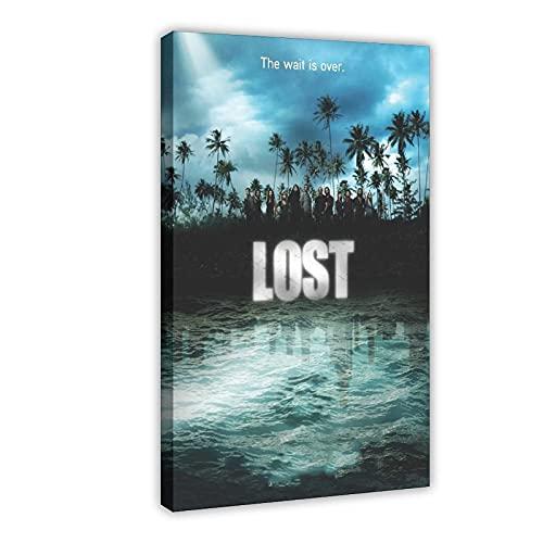 Poster su tela, serie TV drammatica Lost Season 4 (2), decorazione da parete per soggiorno, camera da letto, 30 x 45 cm, cornice: 1