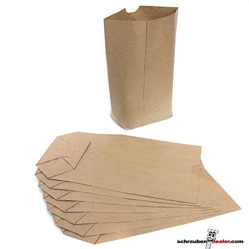 Papiertüten Kreuzbodenbeutel Papiertaschen 26 x 17 + 6 cm (100 Stk.)