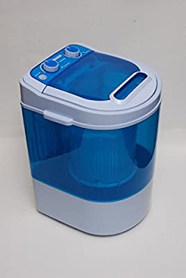 LEISURE DIRECT ® 230V MINI 3KG CAPACITY PORTABLE WASHING MACHINE FOR STUDENTS + SPIN DRY FUNCTION