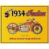 1934Indian Motorcycleメタルサイン