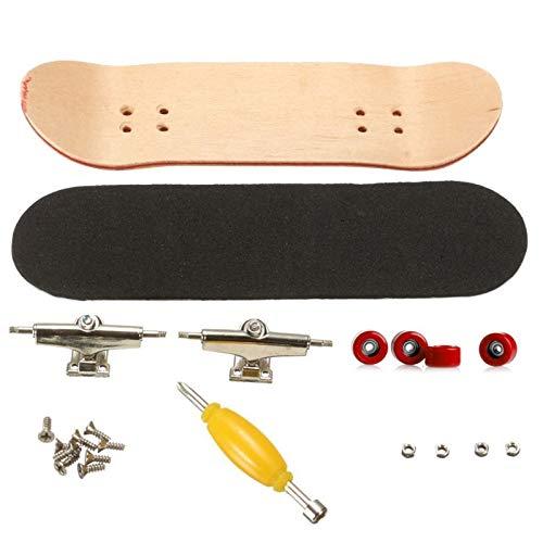 Fingerboard Finger Skateboards, Mini diapasón, Patineta de Dedos Profesional Maple Wood DIY...