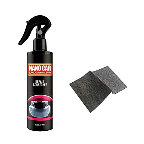 Oulian CaCaCook Nano Car Scratch Removal Spray, 250ML Nano Autokratzer Reparaturspray, Schnelle Reparatur Nano Autoreparaturspray mit Car Scratch Remover Tuch, Auto-Kratzer-Reparatur