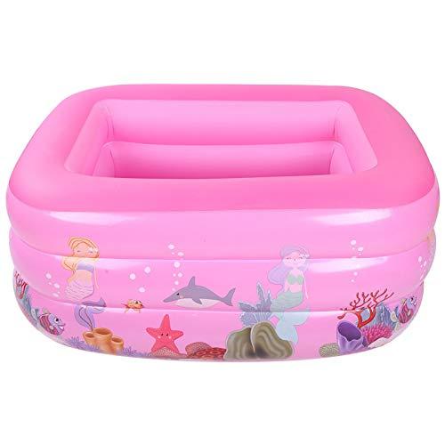 Omabeta Piscina de baño Inflable de Gran tamaño Buena estanqueidad al Aire Fácil de inflar 1.3M Rosa para Interiores y Exteriores