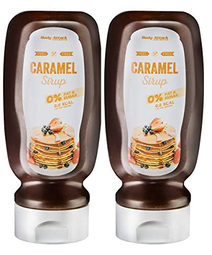 Body Attack Dessert Sauce - Vegan und Low Carb - (Caramel, 2 x 320 ml)