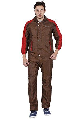 Versalis Men's Polyester Raincoat - Silver Joy Suit (Brown, Large)