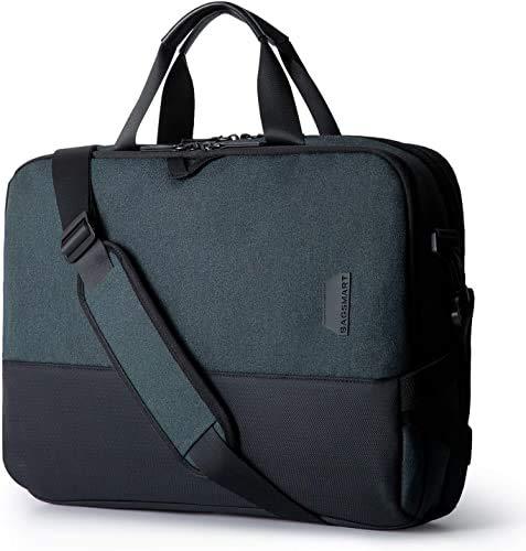 Laptop Tasche BAGSMART 15,6 Zoll Schultertaschen Business Aktentasche Notebook Tasche für Geschäft, Reisen, Schule, Männer, Frauen