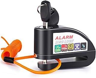 Alarm Disc Lock Anti-Theft Motorcycle Disc Brake Lock Waterproof 110dB Alarm Sound and 6mm Pin Brake Disc Wheel Security L...