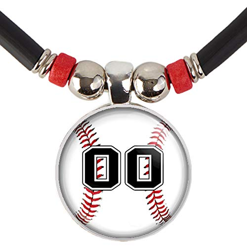 Baseball Player Necklace Personalized with Jersey Number