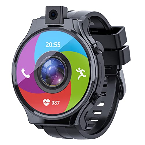 Lazzzgua 4G Smart Watch for Men 2.1' Display Android 10 4GB RAM 64GB ROM 16000mAh Watch Phone with Face ID HD Auto-Focus Camera Bluetooth GPS IP67 Waterproof Smartwatch