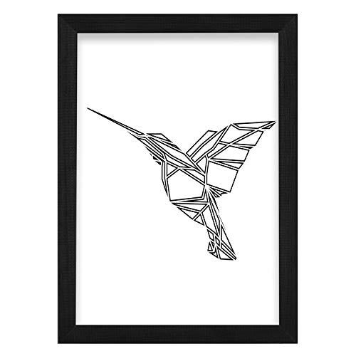 Postergaleria Bilderrahmen | 21x30 | Schwarz | Holz | Acrylglas | 8 Farben | 10 Größen | Posterrahmen | Fotorahmen