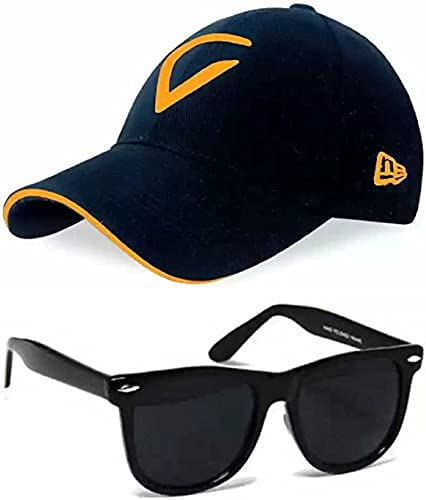 SELLORIA Boy's Combo Pack of with Black Sunglass with Black Baseball Cap