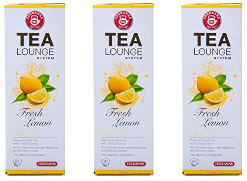 Teekanne Tealounge Kapseln – Fresh Lemon No. 212 Schwarzer Tee (3×8 Kapseln)