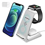 Wireless Charger Stand, CIYOYO 3 in 1 Fast Wireless Charging Station Dock for iPhone 12/12 Pro/12 Pro Max/11/11Pro/11Pro Max, Airpods Pro/2, Apple Watch Series 6/SE/5/4/3/2 (with QC3.0 Adapter)