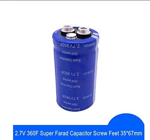NO LOGO CCH-DRS, 1pc Super-Farad Kondensator 2.7V 360F 35 * 67mm High Frequency Low ESR Schraubfüßen Super-Kondensator for Auto-Stereolautsprecher Batterie
