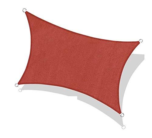 WDQJGD Toldo Vela de Sombra Toldo de Vela Rectangular con Dosel, 185GSM Tejido Permeable Pergola tejado, for al Aire Libre Patio Césped Jardín Jardín Silo, Tierra (Size : 2.45x3.05m)