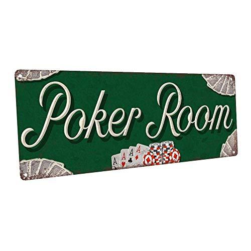 Cartello da parete in metallo per sala da poker per Mancave Den o Gameroom