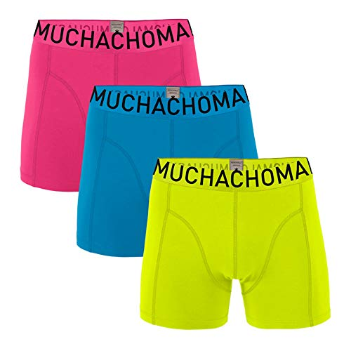 Muchachomalo 3er-Pack Boxershort Solid (M, Solid 334)