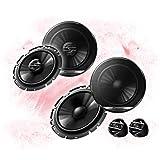 Pioneer Front/Heck 16,5cm/165mm Auto Lautsprecher/Boxen/Speaker Komplett-Set kompatibel für Mitsubishi