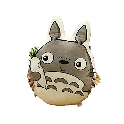 shuanglin 50Cm Dibujos Animados Anime Mi Vecino Totoro Almohada De Felpa Juguetes Kawaii Rábano Totoro Muñeca Impreso Cojín Muñecas Regalo