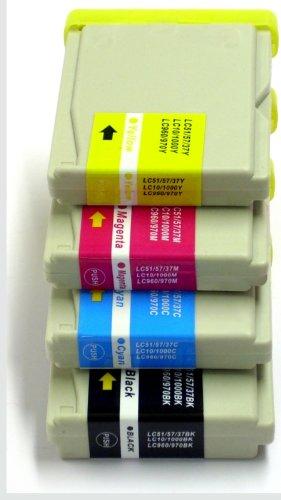 10 Druckerpatronen kompatibel für Brother LC1000 MFC & DCP - Serie / 37ml pro Patrone