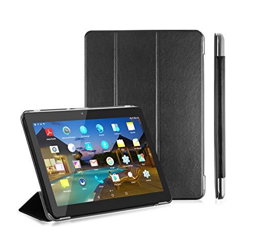LNMBBS Funda para Tablet de 10' Flip Cover de PU Cuero y Cáscara Trasera de acrílico, para YOTOPT 10.1 / BEISTA 10.1 / KXD 10' / FIFG 10' Tablet (Negro)