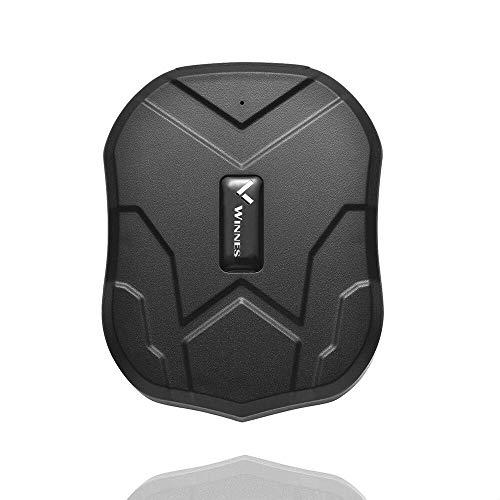 Winnes Localizador GPS para Coche, App/Sitio Web posición en Tiempo Real Antirrobo rastreador GPS para Vehículos Fuerte imán y 5000mAh Recarga GPS Tracker con Gratis App para Smartphone TK905