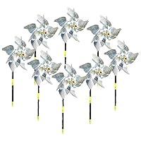 庭の装飾鳥忌避デバイス抑止8パックの鳥の風車反射撥かざぐるまキラキラスピナー