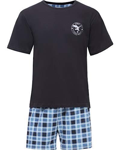 Timone Herren Schlafanzug TI30-108 (Graphite/Kariert4, XXXL)